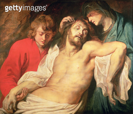 <b>Title</b> : Lament of Christ by the Virgin and St. John, 1614/15 (panel)<br><b>Medium</b> : oil on panel<br><b>Location</b> : Kunsthistorisches Museum, Vienna, Austria<br> - gettyimageskorea