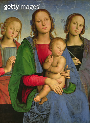<b>Title</b> : Madonna and Child with St. Catherine and St. Rosa, 1493 (oil on canvas on panel)<br><b>Medium</b> : oil on canvas on panel<br><b>Location</b> : Kunsthistorisches Museum, Vienna, Austria<br> - gettyimageskorea