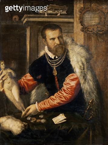 <b>Title</b> : Jacopo Strada (1515-88) art expert and buyer of objet d'art, working for Ferdinand I, Maximilian II and Emperor Rudolf II, 1567/68<br><b>Medium</b> : oil on canvas<br><b>Location</b> : Kunsthistorisches Museum, Vienna, Austria<br> - gettyimageskorea