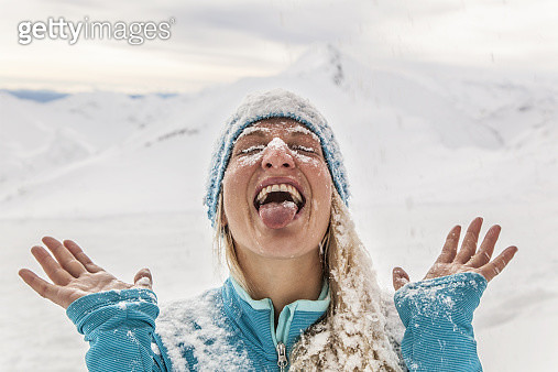 Fun in the snow in the Austrian Alps - gettyimageskorea
