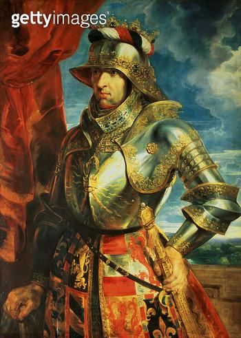 <b>Title</b> : Maximilian I (1459-1519), 1518 (panel)<br><b>Medium</b> : oil on panel<br><b>Location</b> : Kunsthistorisches Museum, Vienna, Austria<br> - gettyimageskorea
