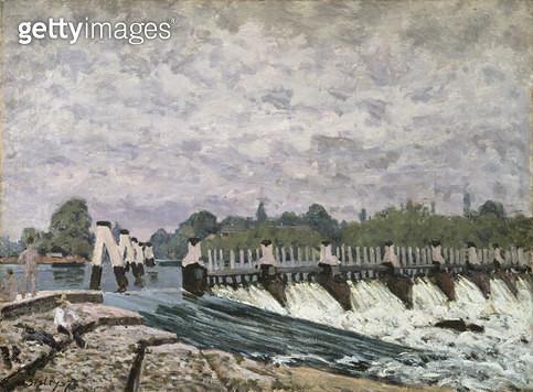 <b>Title</b> : Molesey Weir Hampton Court, 1874<br><b>Medium</b> : oil on canvas<br><b>Location</b> : National Gallery of Scotland, Edinburgh, Scotland<br> - gettyimageskorea