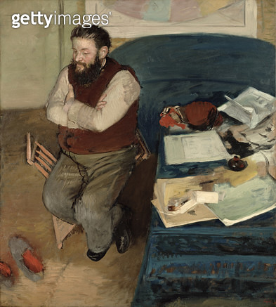 <b>Title</b> : Portrait of Diego Martelli, 1879<br><b>Medium</b> : oil on canvas<br><b>Location</b> : National Gallery of Scotland, Edinburgh, Scotland<br> - gettyimageskorea