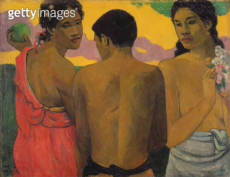 <b>Title</b> : Three Tahitians, 1899<br><b>Medium</b> : oil on canvas<br><b>Location</b> : National Gallery of Scotland, Edinburgh, Scotland<br> - gettyimageskorea