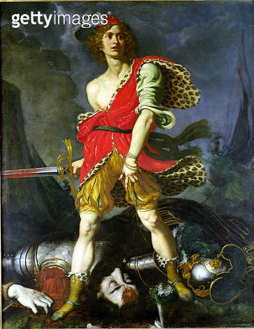 <b>Title</b> : David and Goliath (oil on canvas)Additional Infobattle of good over evil;<br><b>Medium</b> : <br><b>Location</b> : Museo di Palazzo Mansi, Lucca, Italy<br> - gettyimageskorea