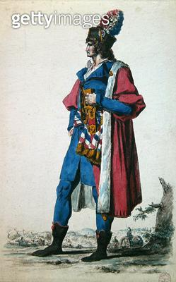 <b>Title</b> : Costume of a Representative of The French People in 1793, from 'A New Collection of Military Costumes from France and other Coun<br><b>Medium</b> : colour lithograph<br><b>Location</b> : Musee de la Ville de Paris, Musee Carnavalet, Paris,  - gettyimageskorea