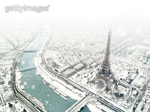 Aerial view of the Eiffel tower - gettyimageskorea