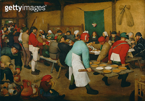 Peasant Wedding (Bauernhochzeit), 1568 (panel) - gettyimageskorea