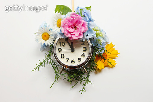 Spring and summer time clock - Conceptual Nature - gettyimageskorea