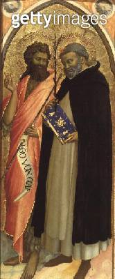 St. John the Baptist and St. Dominic (panel) (see also 69007) - gettyimageskorea
