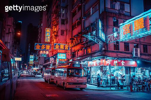 Neon signs at night Hongkong, China - gettyimageskorea