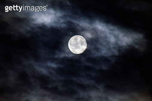 Full moon and clouds - gettyimageskorea