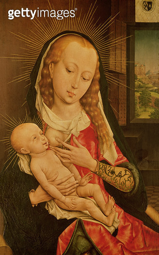<b>Title</b> : Virgin and Child (oil on panel)<br><b>Medium</b> : oil on panel<br><b>Location</b> : Musees Royaux des Beaux-Arts de Belgique, Brussels, Belgium<br> - gettyimageskorea
