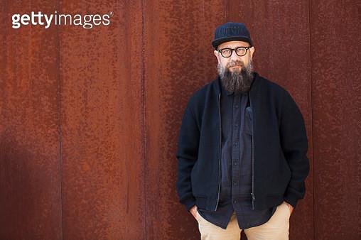 Portrait of bearded man - gettyimageskorea