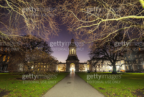 The Campanile of Trinity College in Dublin City, Ireland - gettyimageskorea