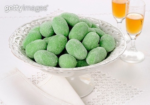 Green marzipan olives from Sicily - gettyimageskorea