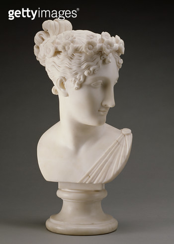 <b>Title</b> : Head of a Dancer, 1820, from the studio of Antonio Canova (1757-1822) (marble)<br><b>Medium</b> : marble<br><b>Location</b> : San Diego Museum of Art, USA<br> - gettyimageskorea