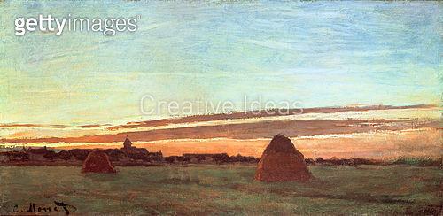 <b>Title</b> : Haystacks at Chailly, 1865<br><b>Medium</b> : oil on canvas<br><b>Location</b> : San Diego Museum of Art, USA<br> - gettyimageskorea
