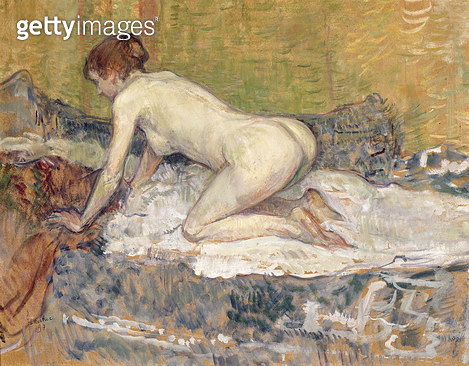 <b>Title</b> : Red-Headed Nude Crouching, 1897 (oil on cardboard)<br><b>Medium</b> : oil on cardboard<br><b>Location</b> : San Diego Museum of Art, USA<br> - gettyimageskorea