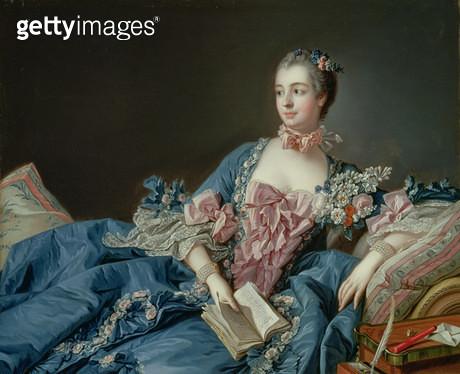 <b>Title</b> : Madame de Pompadour, c.1758 (oil on canvas)Additional InfoJeanne de Poisson (1721-64); Jeanne-Antoinette; mistress of Louis XV:<br><b>Medium</b> : oil on canvas<br><b>Location</b> : National Gallery of Scotland, Edinburgh, Scotland<br> - gettyimageskorea