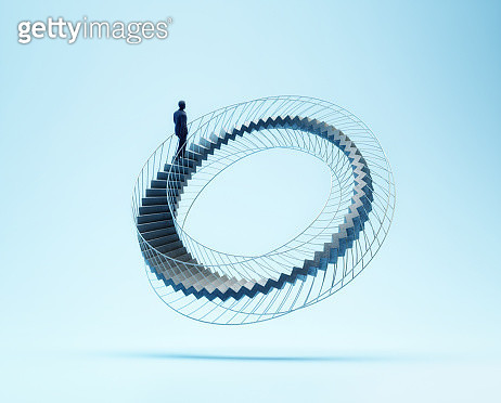 Stairs shaped like a Moebius strip - gettyimageskorea