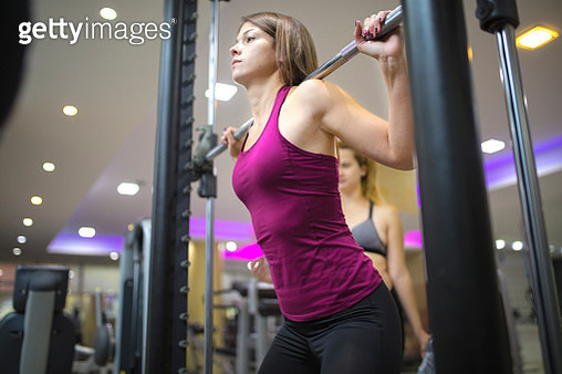Fitness training with female instructor - gettyimageskorea