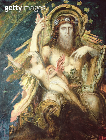 <b>Title</b> : Jupiter and Semele (oil on canvas)<br><b>Medium</b> : oil on canvas<br><b>Location</b> : Musee Gustave Moreau, Paris, France<br> - gettyimageskorea