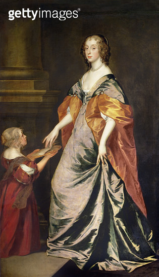 <b>Title</b> : Lady Mary Villiers (1622-85) and Mrs Gibson<br><b>Medium</b> : oil on canvas<br><b>Location</b> : Collection of the Earl of Pembroke, Wilton House, Wilts.<br> - gettyimageskorea