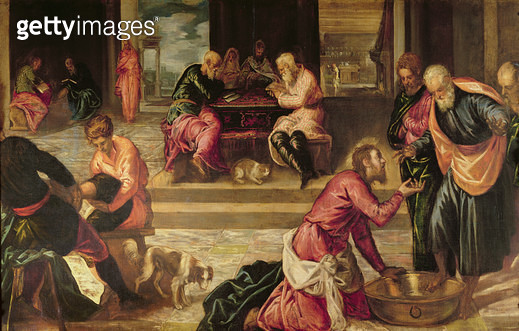 <b>Title</b> : Christ Washing the Feet of the Disciples<br><b>Medium</b> : oil on canvas<br><b>Location</b> : Collection of the Earl of Pembroke, Wilton House, Wilts.<br> - gettyimageskorea