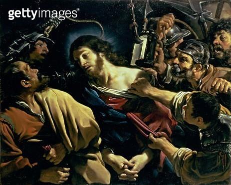 <b>Title</b> : The Betrayal of Christ, c.1621 (oil on canvas)<br><b>Medium</b> : oil on canvas<br><b>Location</b> : Fitzwilliam Museum, University of Cambridge, UK<br> - gettyimageskorea