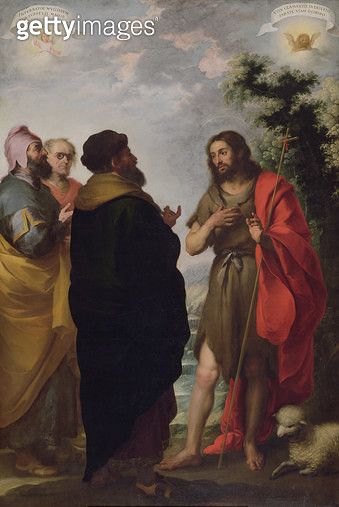 <b>Title</b> : St. John the Baptist with the Scribes and Pharisees, c.1655 (oil on canvas)<br><b>Medium</b> : oil on canvas<br><b>Location</b> : Fitzwilliam Museum, University of Cambridge, UK<br> - gettyimageskorea