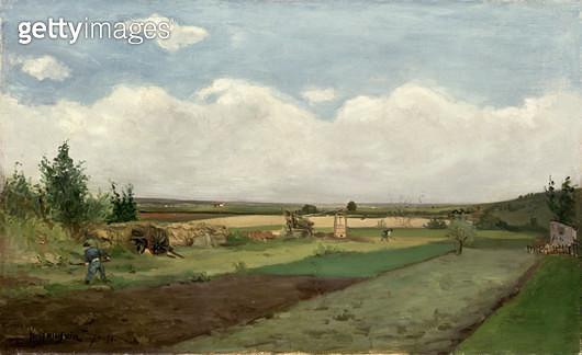 <b>Title</b> : Landscape, 1873 (oil on canvas)<br><b>Medium</b> : oil on canvas<br><b>Location</b> : Fitzwilliam Museum, University of Cambridge, UK<br> - gettyimageskorea