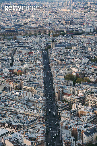 Above view of Paris cityscape - gettyimageskorea