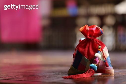 Happy new year and chuseok image of Korea,lucky bag - gettyimageskorea