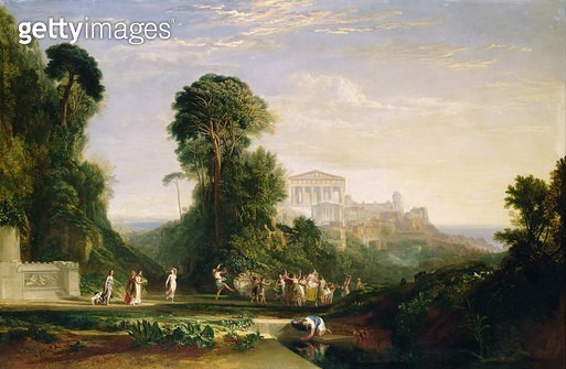 <b>Title</b> : The Temple of Jupiter - Prometheus Restored<br><b>Medium</b> : oil on canvas<br><b>Location</b> : Private Collection<br> - gettyimageskorea