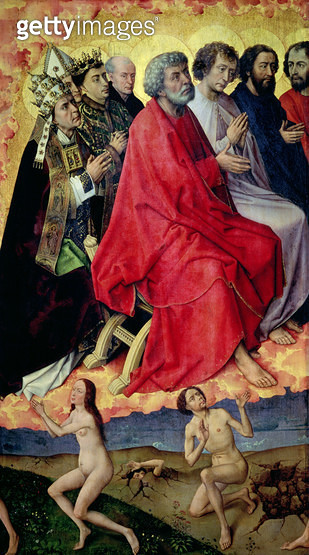 <b>Title</b> : Detail of the Resurrection from the Dead, from The Last Judgement, c.1445-50 (oil on panel) (see 20546 and 148829)<br><b>Medium</b> : <br><b>Location</b> : Hotel Dieu, Beaune, France<br> - gettyimageskorea
