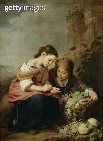 <b>Title</b> : The Little Fruit-Seller, 1670-75 (oil on canvas)<br><b>Medium</b> : oil on canvas<br><b>Location</b> : Alte Pinakothek, Munich, Germany<br> - gettyimageskorea
