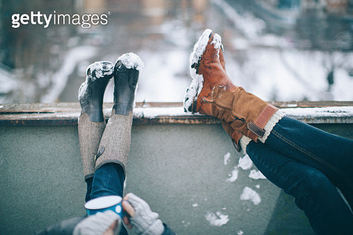 Enjoying in a winter day - gettyimageskorea