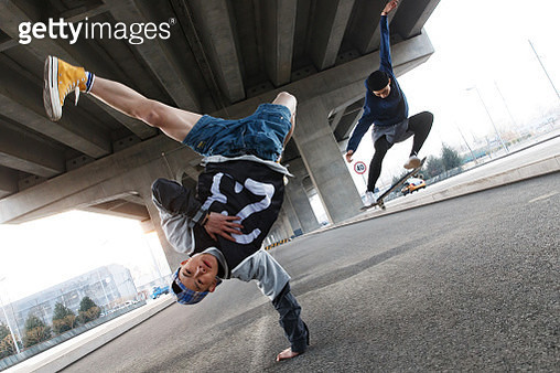 Young people jump street dance - gettyimageskorea