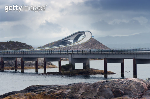 Storseisundbrua bridge, Atlantic Road, Norway - gettyimageskorea