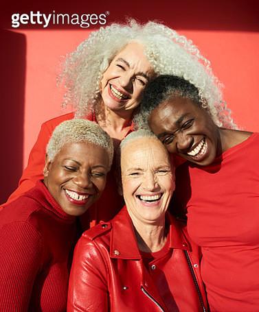 Group portrait of four women - gettyimageskorea