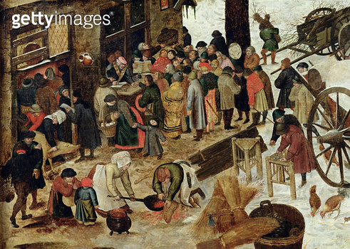 <b>Title</b> : The Payment of the Tithe, or The Census at Bethlehem, detail, after 1566 (oil on panel)<br><b>Medium</b> : oil on panel<br><b>Location</b> : Musee des Beaux-Arts, Caen, France<br> - gettyimageskorea