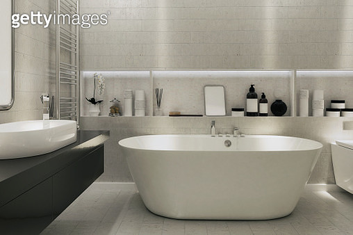Picture of a modern Bathroom. Render image. - gettyimageskorea