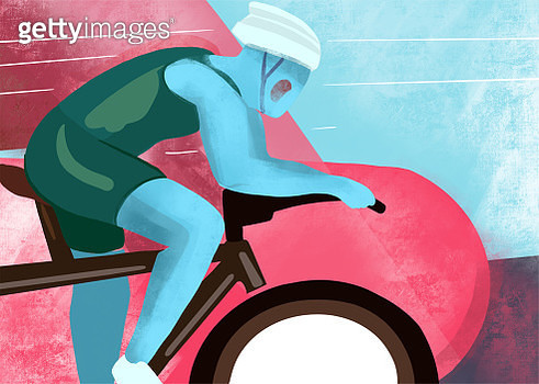 Cycling race illustration. - gettyimageskorea