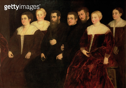 <b>Title</b> : 00409 Seven members of the Soranzo Family (see also 70477)<br><b>Medium</b> : oil on canvas<br><b>Location</b> : Castello Sforzesco, Milan, Italy<br> - gettyimageskorea