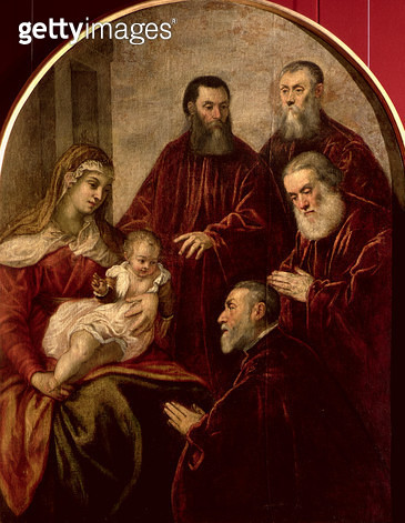 <b>Title</b> : Madonna and child with four Statesmen<br><b>Medium</b> : oil on canvas<br><b>Location</b> : Galleria dell' Accademia, Venice, Italy<br> - gettyimageskorea