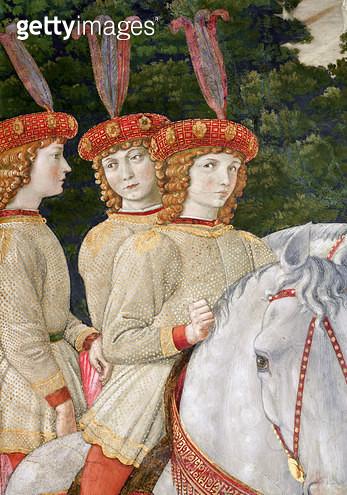 <b>Title</b> : Maria (b.1460), Bianca (1461-88) and Nannina (1463-93) Medici, younger sisters of Lorenzo (1449-92) and Giuliano (1453-78), deta<br><b>Medium</b> : <br><b>Location</b> : Palazzo Medici-Riccardi, Florence, Italy<br> - gettyimageskorea