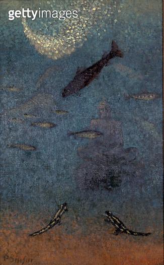 <b>Title</b> : The Submerged Buddha, c.1910<br><b>Medium</b> : oil on canvas<br><b>Location</b> : Galerie L'Ergastere, Paris, France<br> - gettyimageskorea