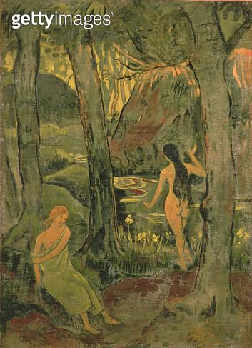 <b>Title</b> : Young Women Bathing, 1892<br><b>Medium</b> : oil on canvas<br><b>Location</b> : Galerie L'Ergastere, Paris, France<br> - gettyimageskorea