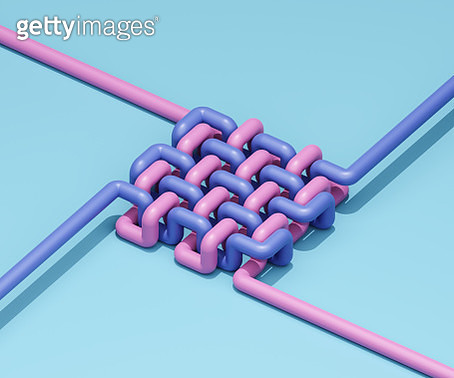 Intertwined pipes - gettyimageskorea